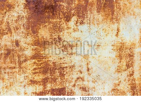 Real rusty metal plate background. Vintage and cool texture. Invoice of rusty metal.