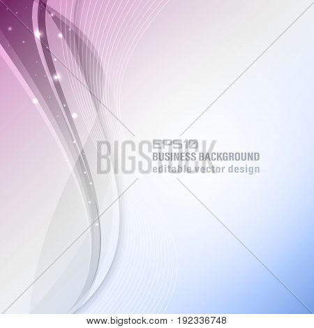 Abstract Wavy Vector Background With Glitter. Business Background.
