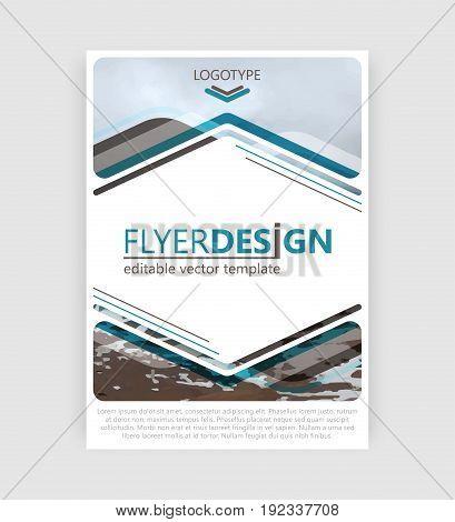 Flyer Design. Business Brochure, Booklet Cover Or Corporate Banner. Vector Design.