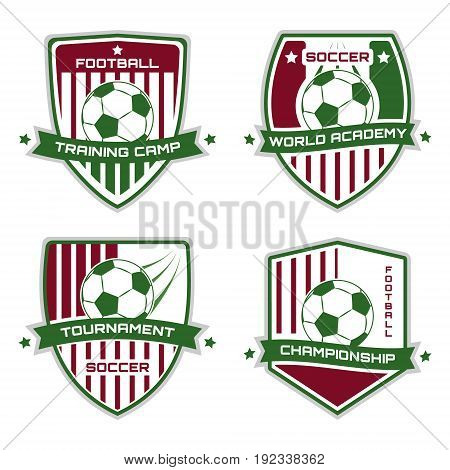 Soccer Emblem. Football Logotype. Vector Sport Illustration.
