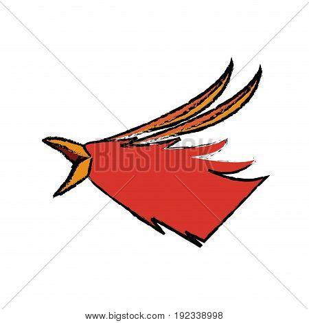 phoenix head legend creature beast image vector illustration