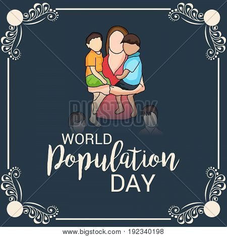 illustration of a background for World Population Day.