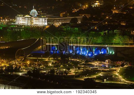 Night Views Of Tbilisi From The Fortress.