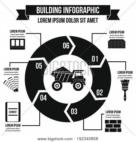 Building infographic banner concept. Simple illustration of building infographic vector poster concept for web