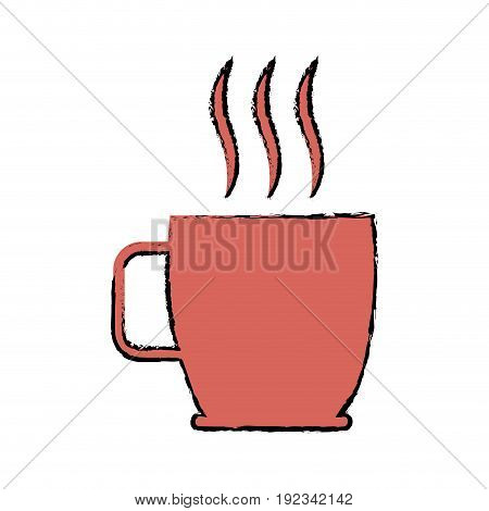 coffee cup hot beverage drink aroma vector illustration