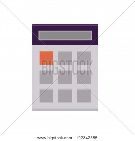Flat calculator icon. Internet sign in cartoon style. Web and mobile design element. Finance, accounting and calculate symbol. Vector colored illustration isolated on white background