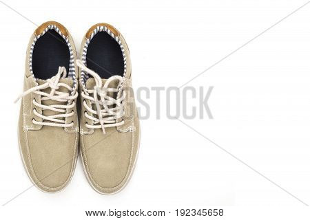 pair of new sneakers isolated on white background.
