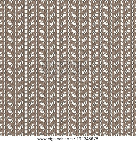 brown and white rectangle vertical striped knitting pattern background vector illustration image
