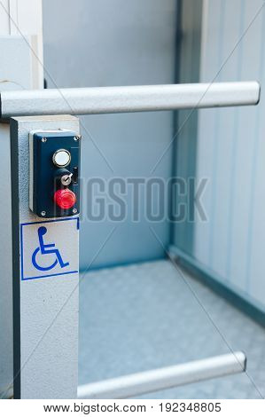 the Elevator to the first floor for disabled in an apartment building