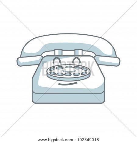 kawaii telephone call talking communication vector illustration