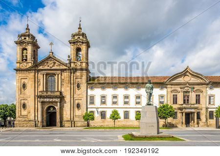View at the church Populo with cloister in Braga - Portugal