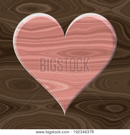 Old pink wooden 3d decorativenshabby chic heart icon
