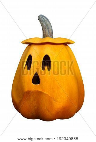 3D rendering of a Halloween Pumpkin isolated on white background