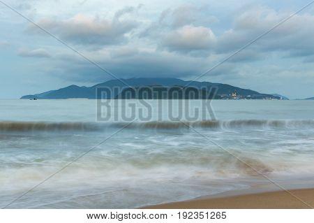 Sea Landscape. Evening On The Beach.