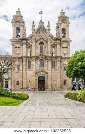 BRAGA,PORTUGAL - MAY 14,2017 - View at the church Dos Congaragados in Braga. Braga was under the Roman Empire known as Bracara Augusta.