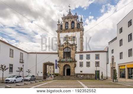 BRAGA,PORTUGAL - MAY 14,2017 - View at the chapel of Nossa Senhora da Torre in Braga. Braga was under the Roman Empire known as Bracara Augusta.