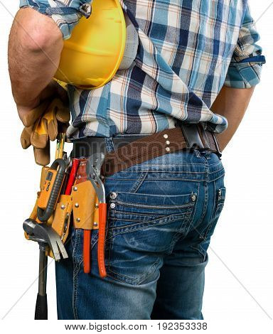 Tool worker belt white background object isolated