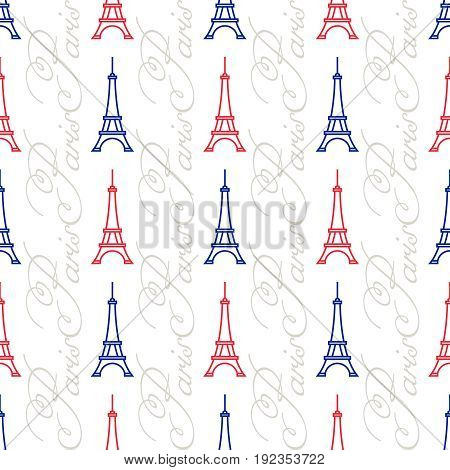 The Eiffel Tower Seamless Pattern