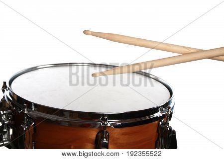 Sticks drum white entertainment background object nobody