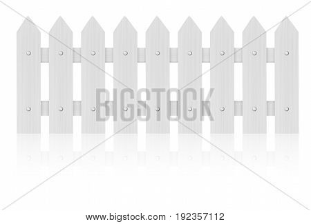 White fence isolated on white background .