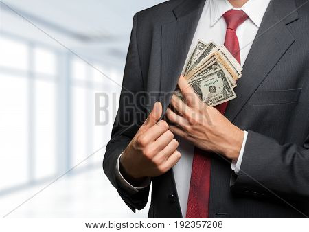 Business one man businessman pocket activity white