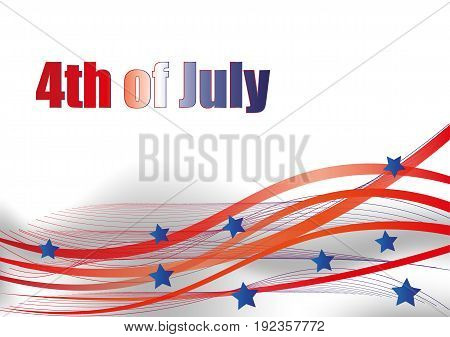 Fourth Of July. Fourth Of July Celebration Simple Illustration. Usa Independence Day. America Freedo