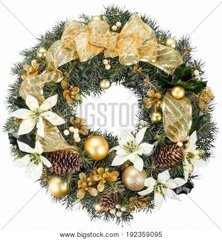 Christmas decorative wreath balls green red white