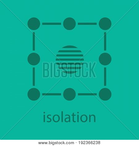 Isolation symbol glyph color icon. Silhouette symbol. Insulation abstract metaphor. Negative space. Vector isolated illustration