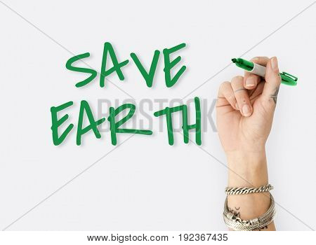 Save Earth Planet Environment Responsibility Word