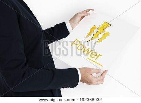 Lighting Thunder Bolt Flash Electric Saving Power Icon Graphic