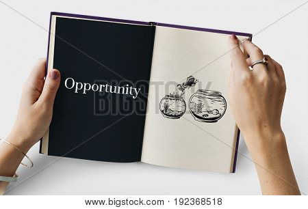 Word opportunity on a book page