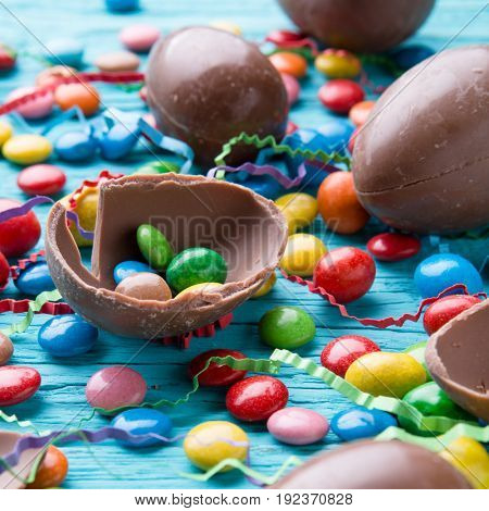 Image of colorful sweets, eggs