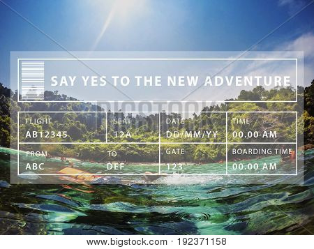 Sea Summer Vacation Travel Journey Word
