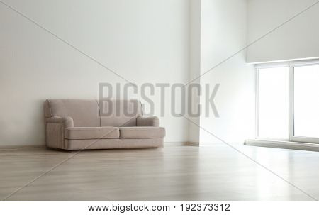 Modern couch in living room