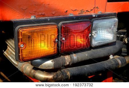 Three Color Taillight Lamp Of Truck