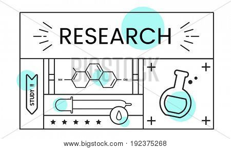 Illustration of science chemistry experiment study