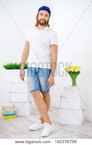 Positive young man in casual clothes.