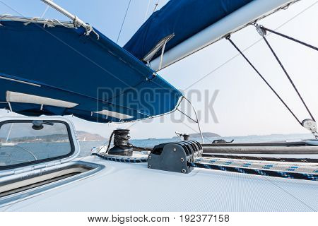 Deck of the sailing vessel