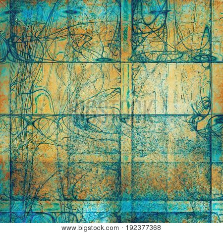 Rough grunge texture. With different color patterns: yellow (beige); green; brown; blue; red (orange); cyan