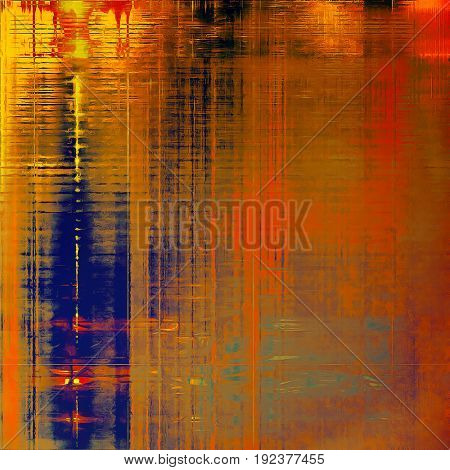 Creative vintage surface texture, close up grunge background composition. With different color patterns: yellow (beige); brown; blue; red (orange); cyan