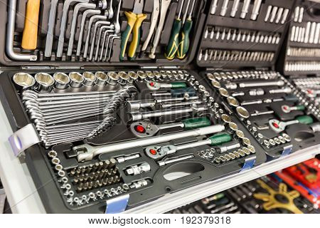 Professional tools for auto service and car repair
