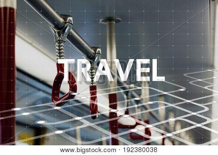 Travel Bus Train Transportation Word Graphic