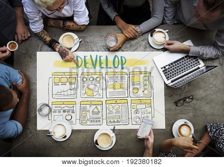 Develop Improve Business Plan Concept