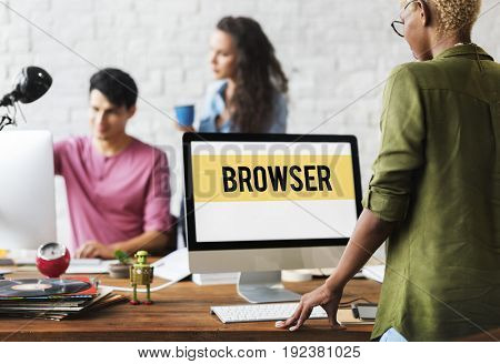 Browser Website Template Layout Graphic Word