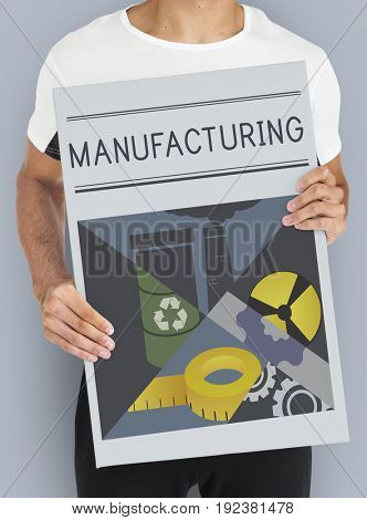Industrial Manufacturing Mass Production Concept