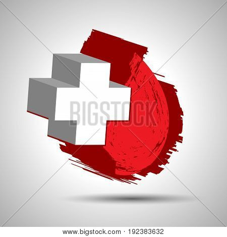 Vector Illustration Of Donate Blood Concept With Abstract Blood Drop For World Blood Donor Day-june