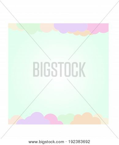 Sweet lovely colorful clouds background for notebook or scrapbook and all moment.