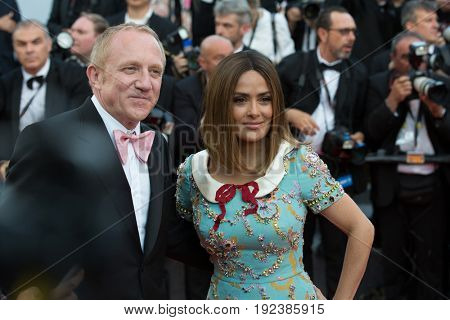 Salma Hayek, Francois- Henri Pinault attends the 70th Anniversary screening  premiere for at the 70th Festival de Cannes. May 23, 2017 Cannes, France