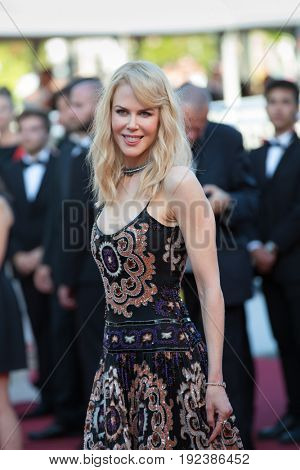 Nikol Kidman attends the 70th Anniversary screening  premiere for at the 70th Festival de Cannes. May 23, 2017 Cannes, France