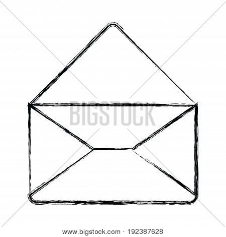 monochrome blurred silhouette of envelope mail opened in closeup vector illustration